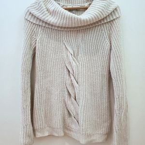 In The Knit | Braided Knit Sweater with Cowl Neck